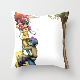 Teamwork... Sort of Throw Pillow