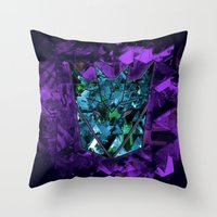transformers Throw Pillows featuring Decepticons Abstractness - Transformers by DesignLawrence