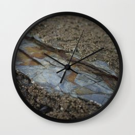 Beautiful Natural Rock Texture Among Barnacles Wall Clock