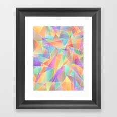 The Geometric Glass Shatter Framed Art Print