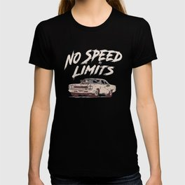 No Speed Limits Fast Tuned Engines Hot Rods T-shirt