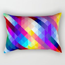 Colorful Mosaic Style Rectangular Pillow