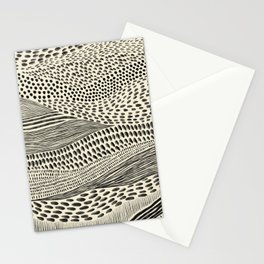 Hand Drawn Patterned Abstract II Stationery Cards