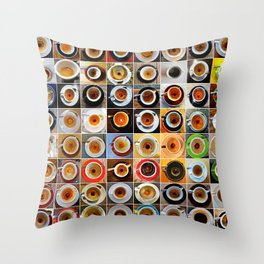 Three Months in Coffee Throw Pillow