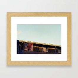 red white blue Framed Art Print