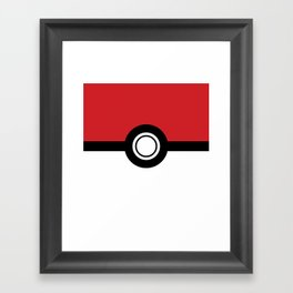 Poke Ball Framed Art Print