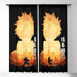 Minimalist Silhouette Bakugo Blackout Curtain