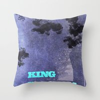 lebron Throw Pillows featuring King James by xyzdsn