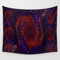 sonic Wall Tapestries featuring Sonic Flame Fractal by BohemianBound