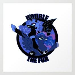 Double the Fun Art Print