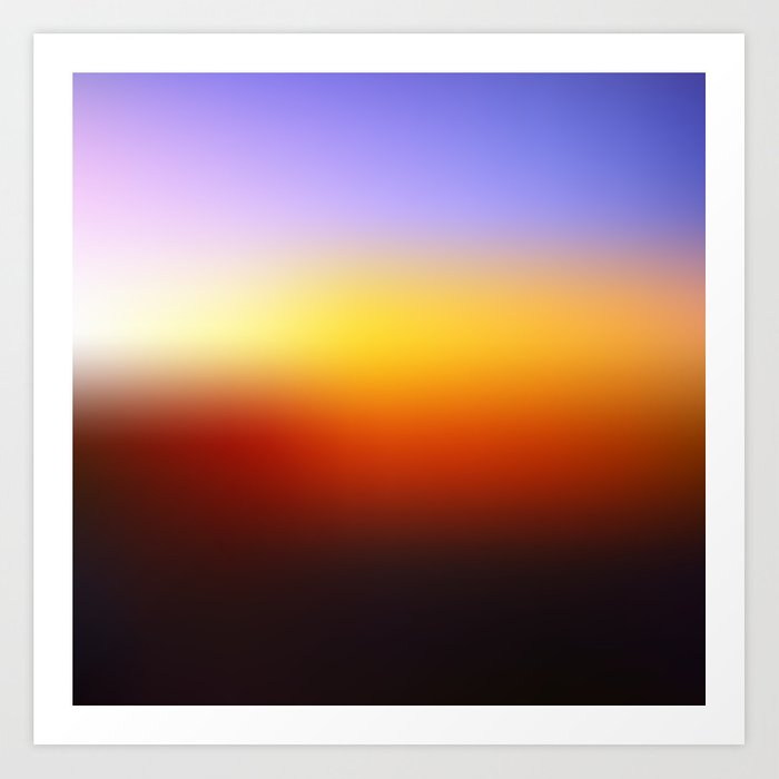 Sunset Gradient 7 Art Print By Irislynn Society6