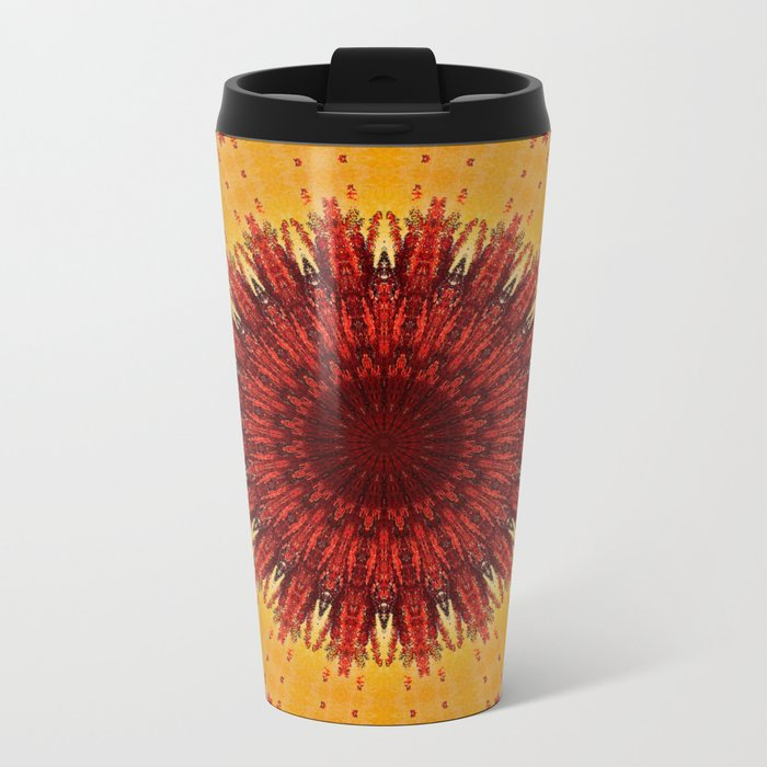 KALEIDOSCOPIC FALL Metal Travel Mug