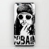 kurt cobain iPhone & iPod Skins featuring Vector Cobain by Emma Porter
