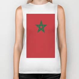 Flag of marocco Biker Tank