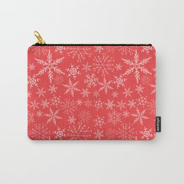 red and white snowflakes Carry-All Pouch