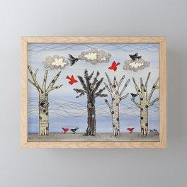 Winter Flights Framed Mini Art Print