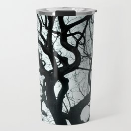 Tree Silhouette - Blue Travel Mug