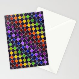 Rainbow Arabesque Digital Quilt Stationery Cards