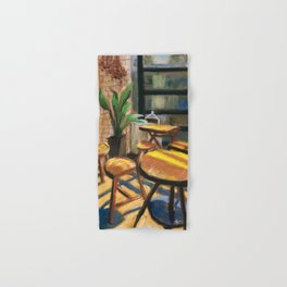 Pastel Painting   Cafe Morning Hand & Bath Towel