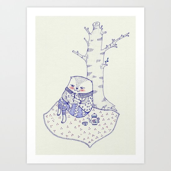 the tree. Art Print