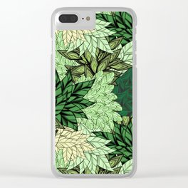 Green, turquoise, beige sheets. Clear iPhone Case