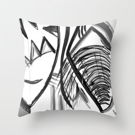 Abstract Dreams in black and white, pillow Throw Pillow