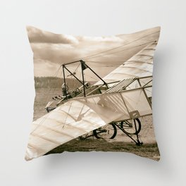 Old Airplane Throw Pillow