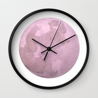 lunar Wall Clocks featuring Lunar by HouseOfLeaves