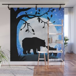 Moon and bears Wall Mural