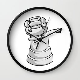 Rook Chess piece at Chess Hip Hop Dance Dab Wall Clock
