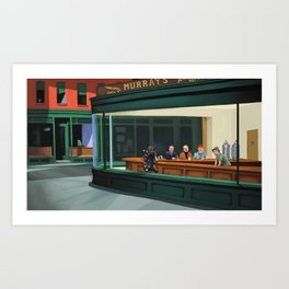 Murray's Nighthawks Art Print