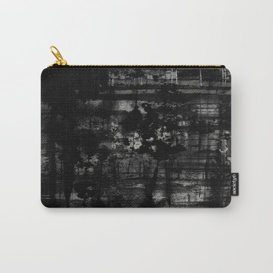 Into the Night - Black & White, textured abstract Carry-All Pouch