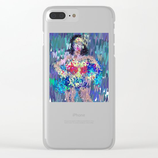 Wonder Type Woman - Abstract Pop Art Comic Clear iPhone Case