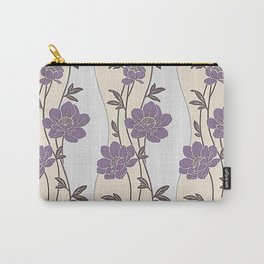 Purple Flower Garland Carry-All Pouch