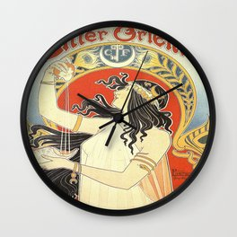 Vintage poster - Bitter Oriental Wall Clock