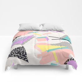 80s / 90s RETRO ABSTRACT PASTEL SHAPE PATTERN Comforters