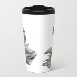 Chipmunk and mushrooms Metal Travel Mug
