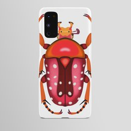 Orange and Red Beetle Android Case