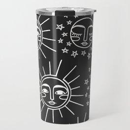 Sun and Moon Pattern Travel Mug