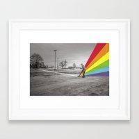 floyd Framed Art Prints featuring Mr. Floyd by Blaz Rojs
