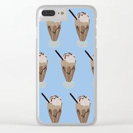 Milkshake blue Clear iPhone Case