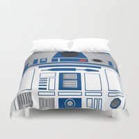 r2d2 Duvet Covers featuring R2D2 by Sam Del Valle