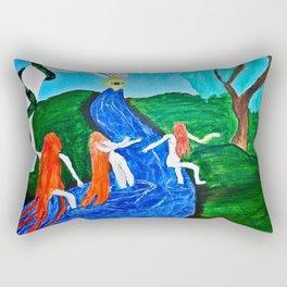 Adam and Eve in Wonder Land  Rectangular Pillow