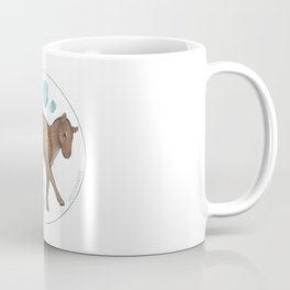 Eohippus angustidens with aquamarine Coffee Mug