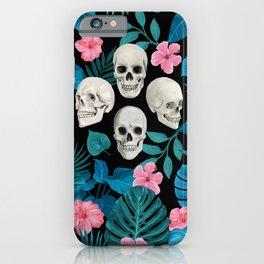 Skulls in the Blue Jungle iPhone Case