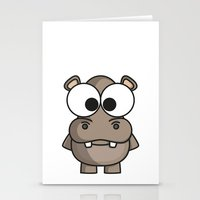 hippo Stationery Cards featuring Hippo by binbinrobin