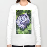 hydrangea Long Sleeve T-shirts featuring Hydrangea by Linda Hoover