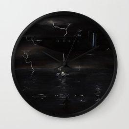 Coastal Storm Wall Clock