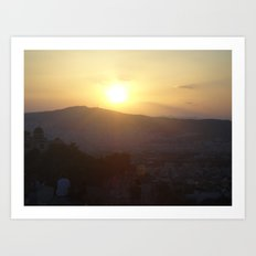 Sunset in Athens - Greece Art Print