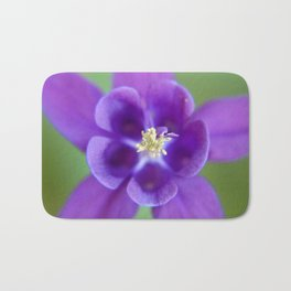 Fluid Nature - Purple Aquilegia Flower Bath Mat